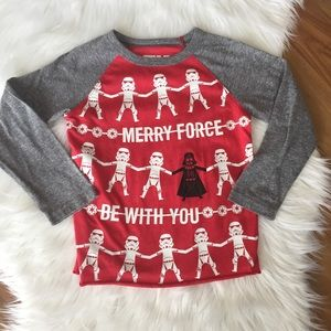 Star Wars red and gray Christmas shirt, 5T